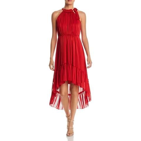 T Tahari Womens Vitala Party Dress Halter High-Low