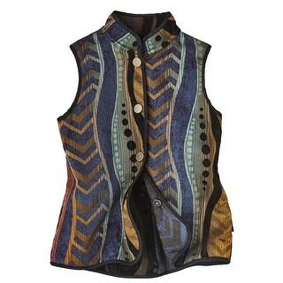 Women's Reversible Vest - Fall Tableau Design