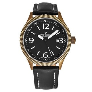 Link to Revue Thommen Men's 17060.2587 'Airspeed Vintage' Black Dial Black Leather Strap Swiss Automatic Watch Similar Items in Men's Watches