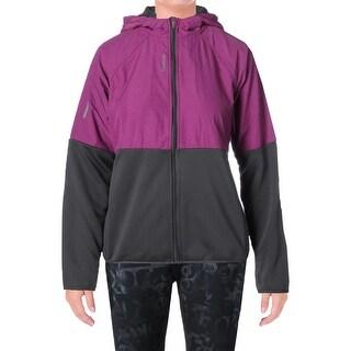 Reebok Womens Nitro Athletic Jacket Heathered Hooded