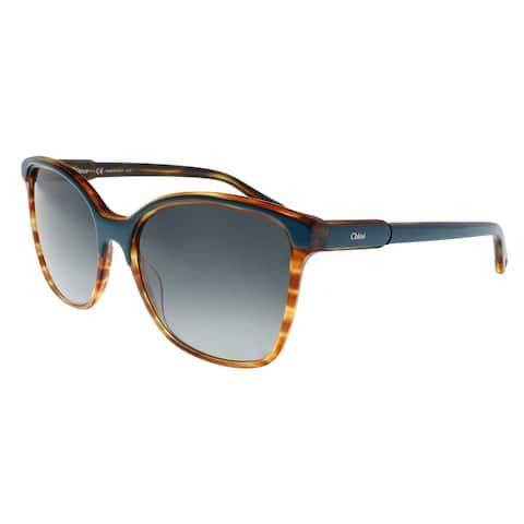Chloe CE734/S 417 Petrol Square Sunglasses - 59-19-145
