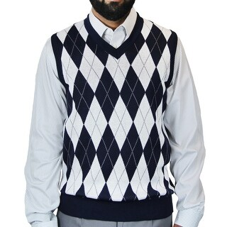 Men's Argyle Jacquard Sweater Vest