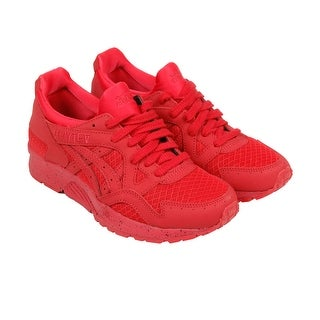 Asics Gel-Lyte V Mens Red Nubuck Sneakers Lace Up Shoes