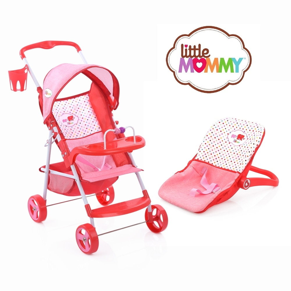 Play Yd /& More High Chair Hauck 21Piece Doll Care Set with Stroller