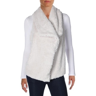 BB Dakota Womens Albion Casual Vest Faux Fur Knit