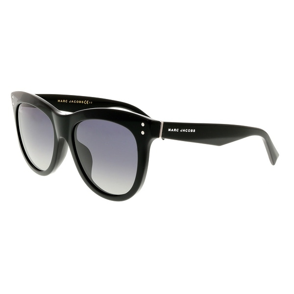 bd972cf568ae Shop Marc Jacobs MARC 118/S 0807 WJ Black Round Sunglasses - 54-19 ...