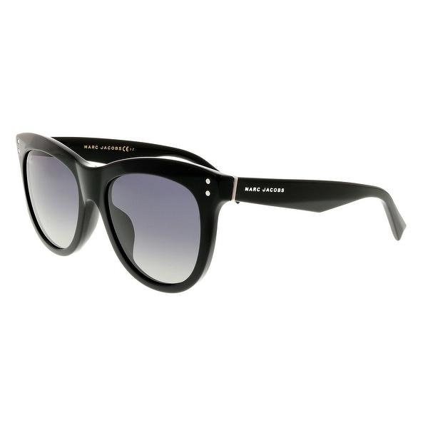 71aa489755e1 Shop Marc Jacobs MARC 118/S 0807 WJ Black Round Sunglasses - 54-19 ...