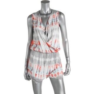 Young Fabulous & Broke Womens Sleeveless Tie-Dye Romper - S