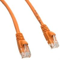 Cat6 Orange Ethernet Patch Cable, Snagless/Molded Boot, 100 foot