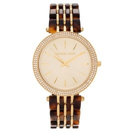 Michael Kors Women's 'Darci' MK4326 Stainless Steel Crystal Accent Two-tone Bracelet Watch