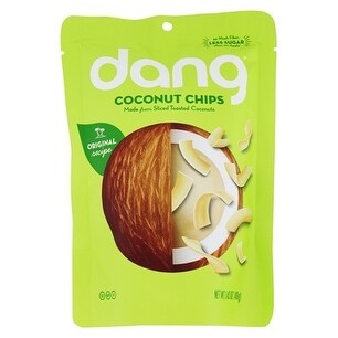 Dang Toasted Coconut Chips - Original Recipe - Case of 12 - 3.17 oz.