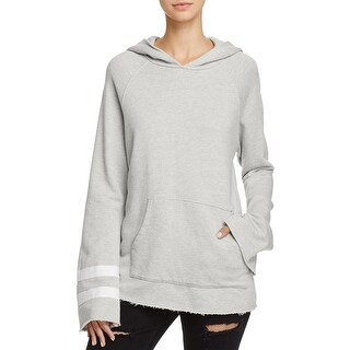 Sundry Womens Hoodie Raw Hem Bell Sleeves