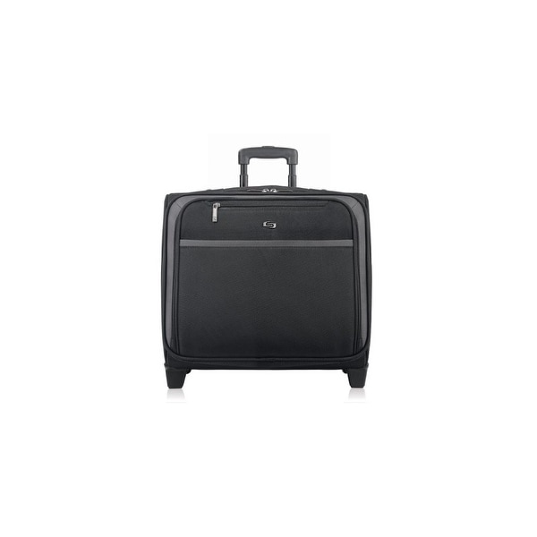 """Solo Pro Rolling Overnighter Case, Black Solo Sterling Carrying Case for 16"""" Notebook - Black - Polyester - Handle"""