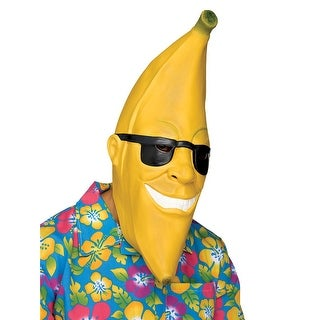 Adult Mr. Banana Man Halloween Costume Mask - standard - one size