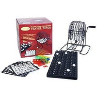 WorldWise 21745 Travel Bingo Game Set - Black Steel