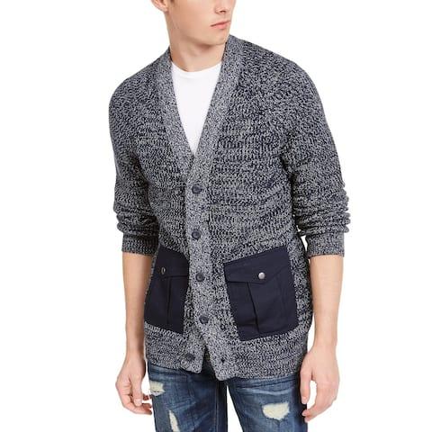 American Rag Men's Textured Cardigan Black Size Extra Large - X-Large