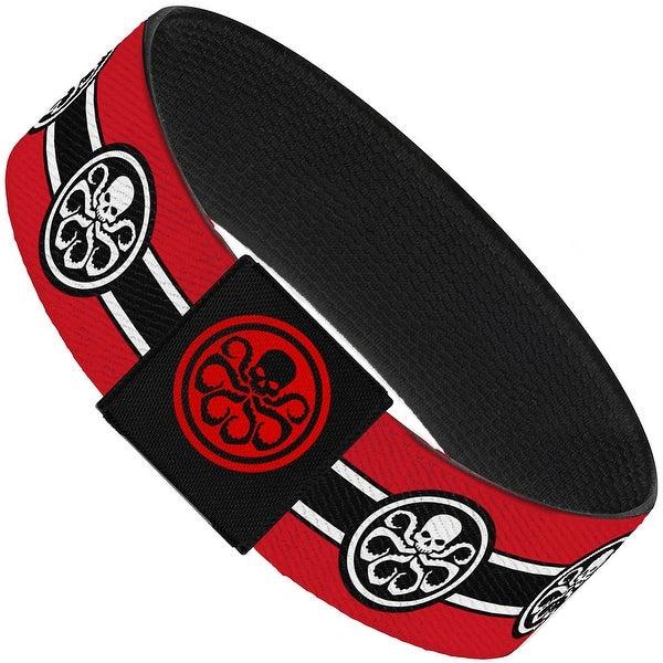 Hydra Logo Stripe Red Black White Elastic Bracelet