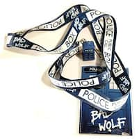 "Doctor Who ""Bad Wolf"" Lanyard with 3D TARDIS Charm - Multi"