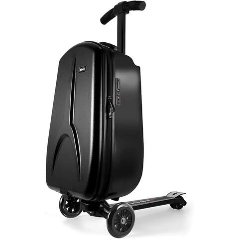 IUBEST Luggage Scooter for Kids Adults Scooter Carry in Foldable Suitcase with Wheels for Travel,Business 50 L