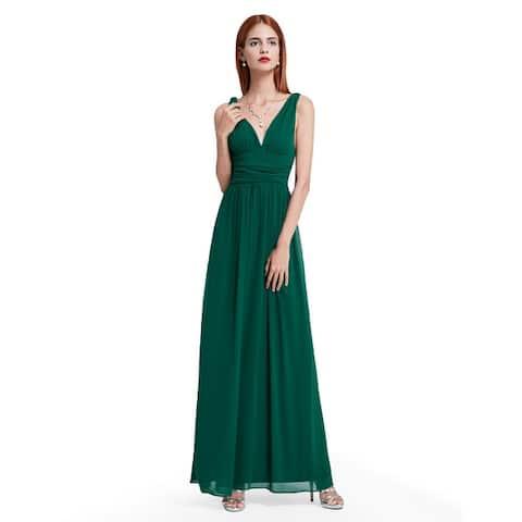 0a4b47d2e6e Ever-Pretty Womens Empire Waist Sleeveless V Neck Evening Party Dress 09016