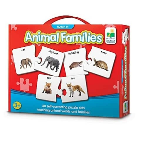 The Learning Journey 117408 Puzzles Game, Animal Families