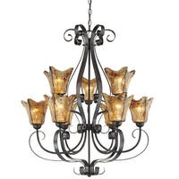 Millennium Lighting 7129 Chatsworth 9 Light Two Tier Chandelier - Burnished Gold