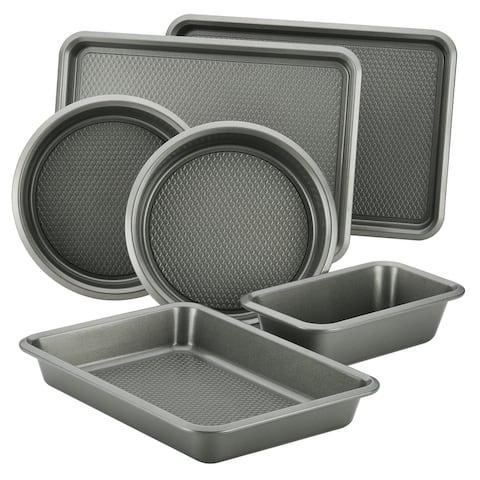Ayesha Curry Bakeware Cake Pan Cookie Pan and Loaf Pan Set, 6-Piece