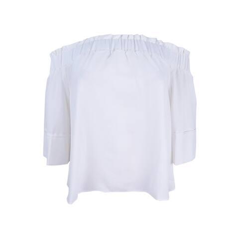 Rachel Rachel Roy Women's Shirred Off-The-Shoulder Top - White - M