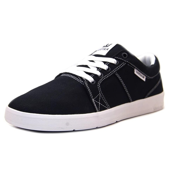 Supra Ineto Men Round Toe Canvas Black Skate Shoe