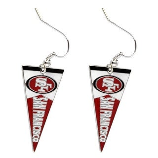 SAN Francisco 49ers NFL Pennant Dangle Earring