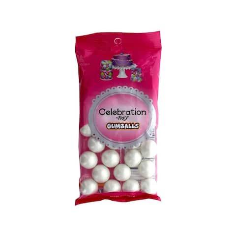 74510 sweetworks celebration gumballs 8oz shim white