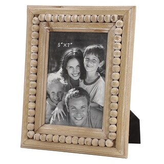 Link to Large Natural Wood Picture Frame w Decorative Wood Bead Similar Items in Decorative Accessories