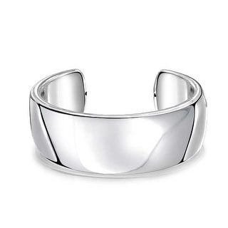 Bling Jewelry High Polished 925 Sterling Silver Cuff Bracelet Wide Bangle