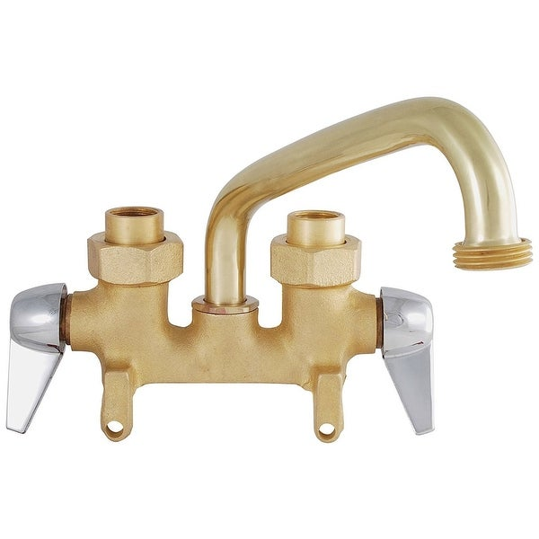 Kingston Brass KF460 4-Inch Centerset Laundry Faucet Polished Chrome