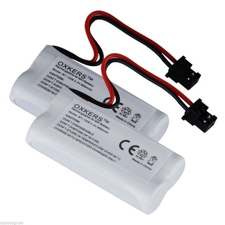 2*Reachargeable Cordless Phone Battery 800mAh for Uniden BT-1008 BT-1021 BT-1016 - White