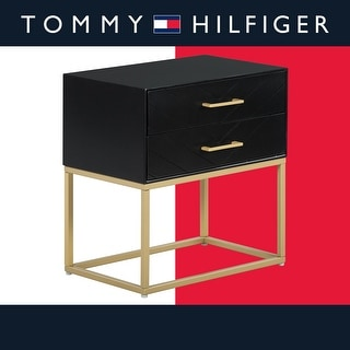 Link to Tommy Hilfiger Ellias Table, Black and Gold Similar Items in Living Room Furniture
