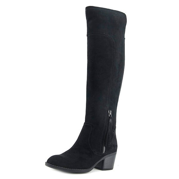 Indigo Rd. Alluring2 Women Round Toe Suede Black Over the Knee Boot