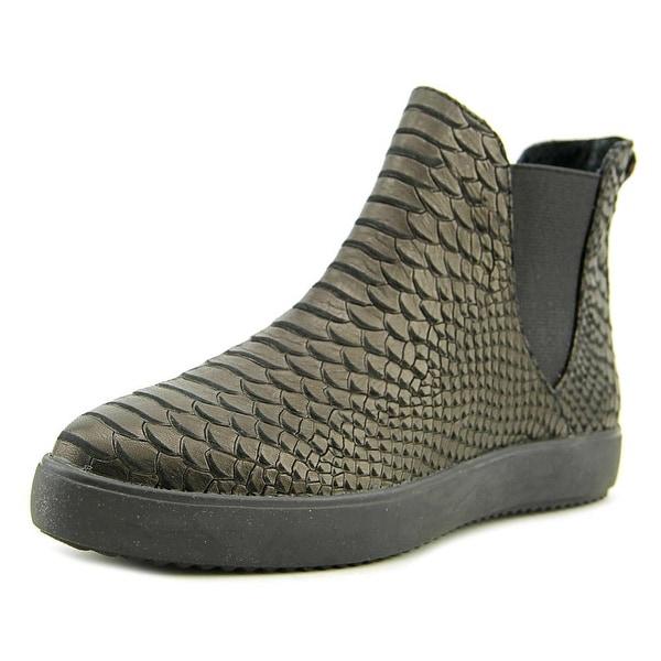 J/Slides Dazzle Women Leather Black Fashion Sneakers