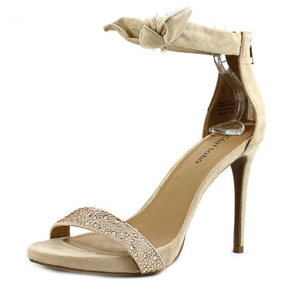 Zigi Soho Sauly Women Open Toe Canvas Tan Sandals
