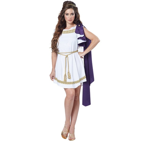 California Costumes Grecian Toga Dress Adult Costume - White
