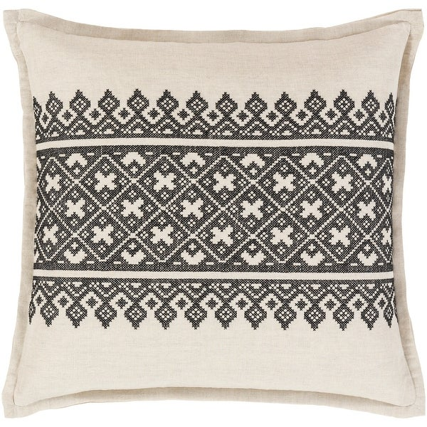 Decorative Even Black 20-inch Throw Pillow Cover. Opens flyout.