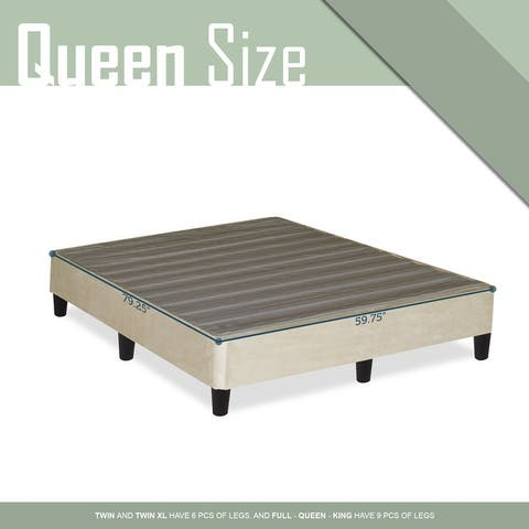 ONETON 13-Inch Platform Bed For Mattress, Eliminate Need For Box Spring And Frame, Beige.