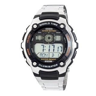 Casio Mens Silvertone Sport Watch