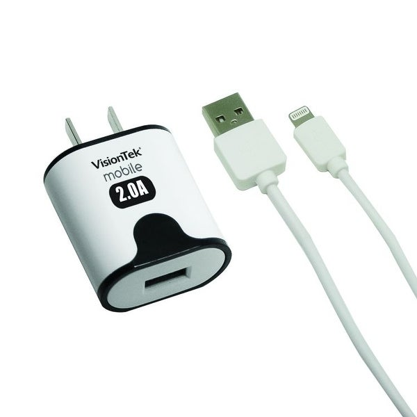 visiontek 900930 2 amp 3 2 ft home charger with lightning cable rh overstock com