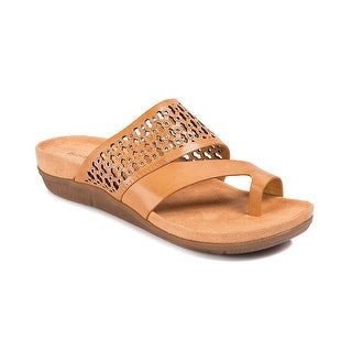 Link to Bare Traps Womens Ginger Leather Open Toe Casual Slide Sandals Similar Items in Women's Shoes