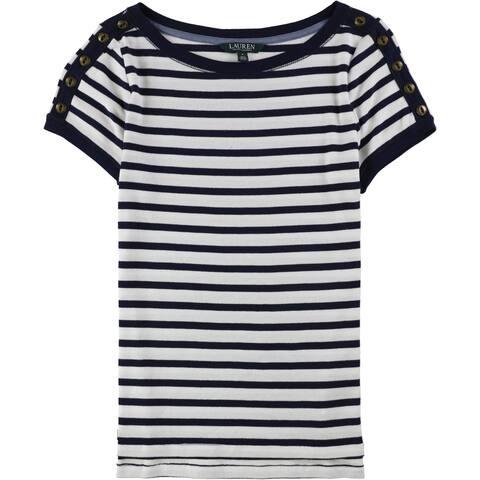 Ralph Lauren Womens Striped Basic T-Shirt