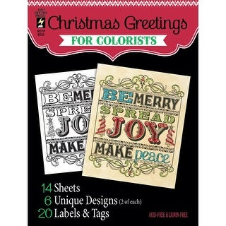 """Hot Off The Press Coloring Book 5""""X6""""-Christmas Greetings"""