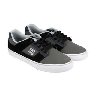 DC Bridge Mens Grey Suede Lace Up Sneakers Shoes