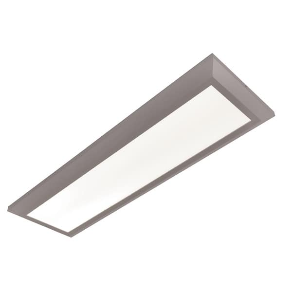 Atlas 1 Light Satin Nickel Led Rectangular Flush Mount White Acrylic Shade On Sale Overstock 28264601