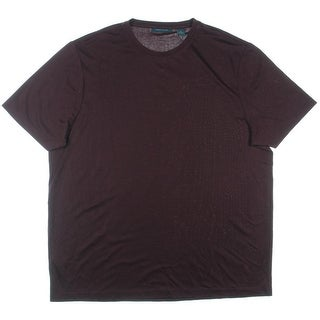 Perry Ellis Mens Crew Neck Short Sleeves Casual Shirt